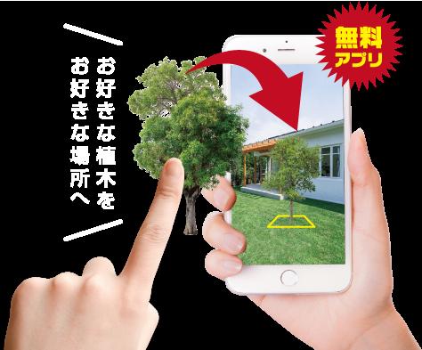 お好きな植木を お好きな場所へ配置してイメージできる。